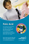 Folic Acid - Bilingual poster – French one side, English on the other side