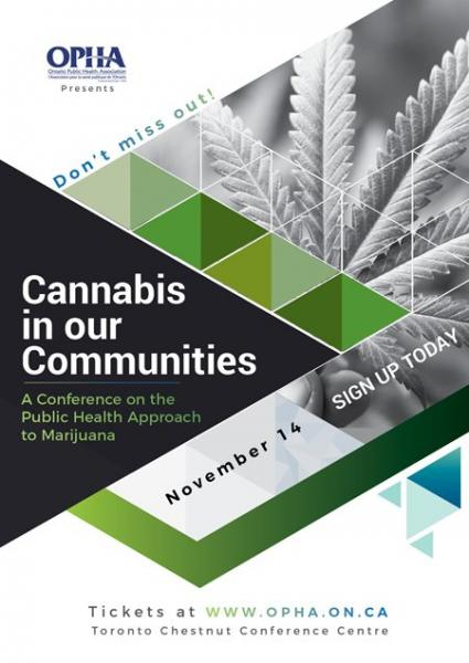 Poster for the OPHA Cannabis Forum