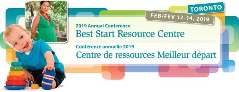 Banner of the 2019 Best Start Resource Centre conference