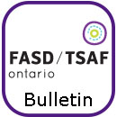 FASD Ontario icon above the word Bulletin